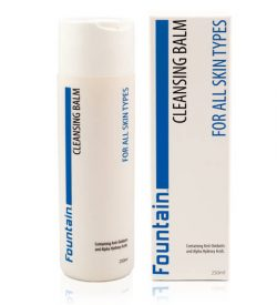 Fountain Cosmetics facial cleansing balm removes impurities without stripping away the skin's natural protective oils