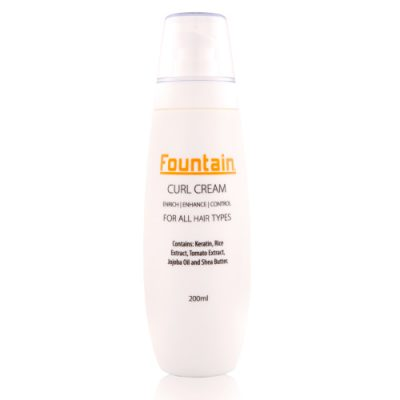 Fountain Curl Cream, a leave-in conditioner and one of Fountain's curly hair products