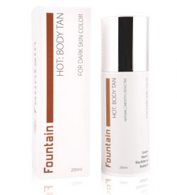Fountain Hot Body Tan, a gradual body tanning lotion