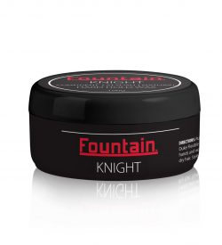 Knight Hard Hold Wax for a firm hold and matte finish.