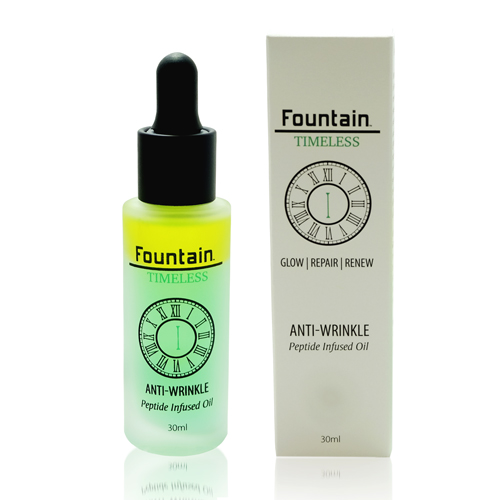Fountain Timeless I Anti Wrinkle serum targets expression lines around the eyes and forehead