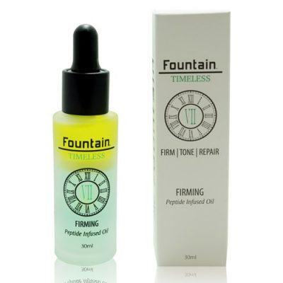 Fountain Timeless VII Firming, a skin tightening oil and serum