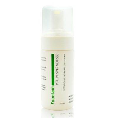 Fountain volumising mousse delivers exceptional volume to flat and limp hair
